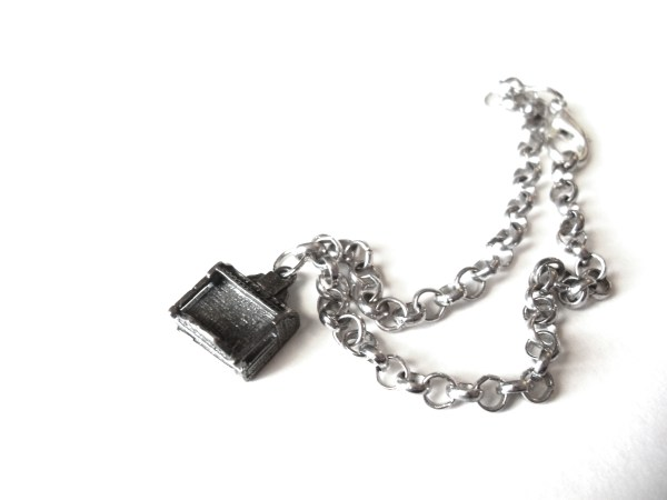 Silver Stand Up Piano Bracelet by Wilde Designs