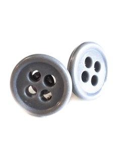 Gray Button Earrings by Wilde Designs