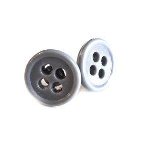 Gray Button Earrings by Wilde Designs