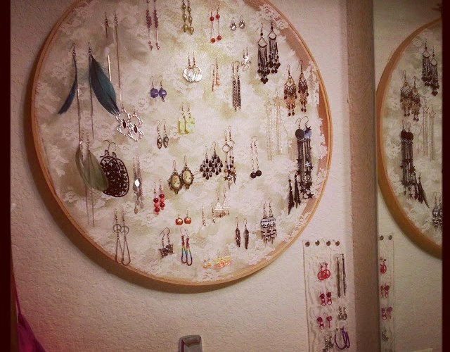 Embroidery Hoop Earring Storage by Wilde Designs