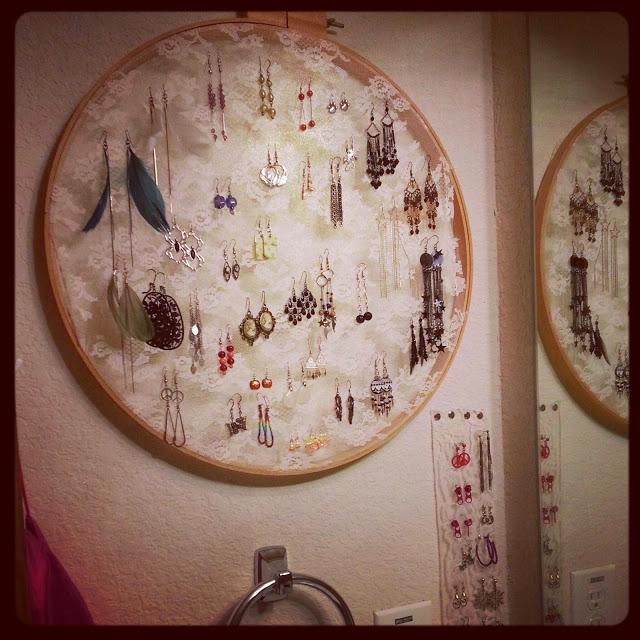 Embroidery Hoop Earring Storage by Wilde Designs