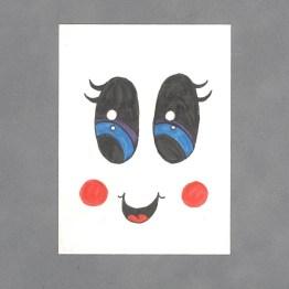 Kawaii Face Art Card by Wilde Designs