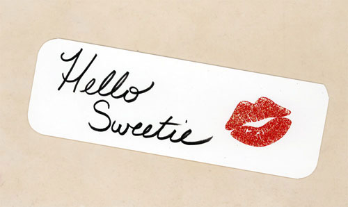 Hello Sweetie Bookmark by Wilde Designs