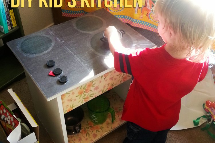 DIY Kid's Kitchen by WIlde Designs