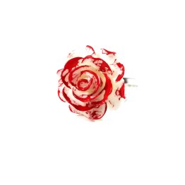 Paint Them Red Kawaii Rose Ring by Wilde Designs