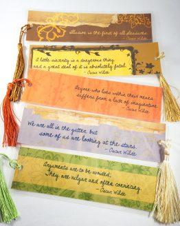 Oscar Wilde Bookmarks by Wilde Designs