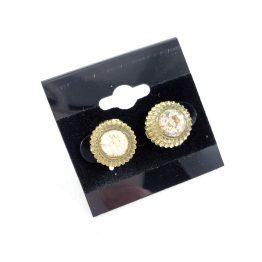 Vintage Faux Diamond Button Earrings by Wilde Designs