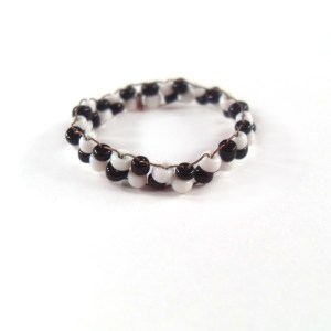 Checkerboard Bead Ring by Wilde Designs