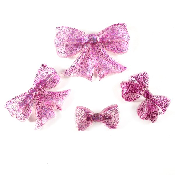 Glittering Magenta Bow Pins by Wilde Designs