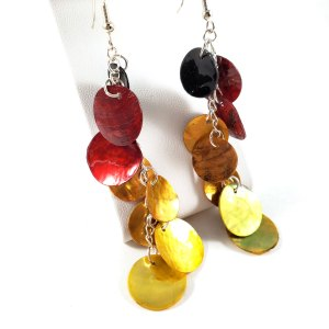Phoenix Fire Dragon Scale Earrings by Wilde Designs