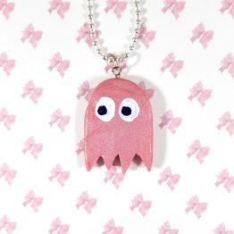 Pink Retro Arcade Gamer Necklace by Wilde Designs