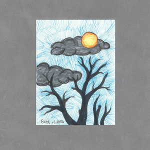 Night Sky Art Card by Wilde Designs