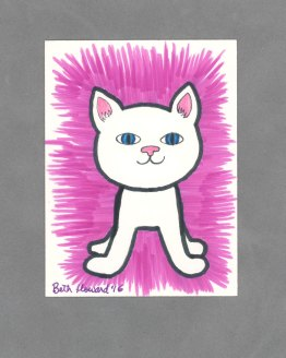 Here Kitty Kitty Art Card by Wilde Designs