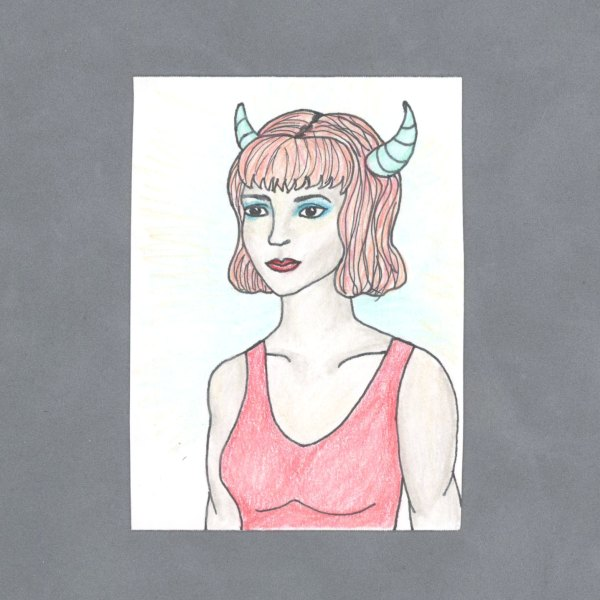 Demon Girl Art Card by Wilde Designs
