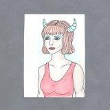 Demon Girl Art Card by Wilde Designs