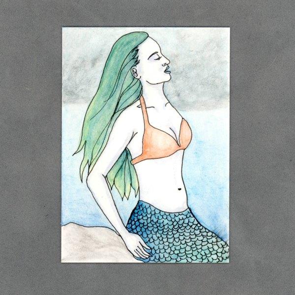 Stormy Mermaid Art Card by Wilde Designs
