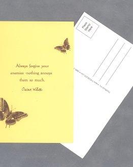 "Always Forgive 4""x6"" Postcard by Wilde Designs"