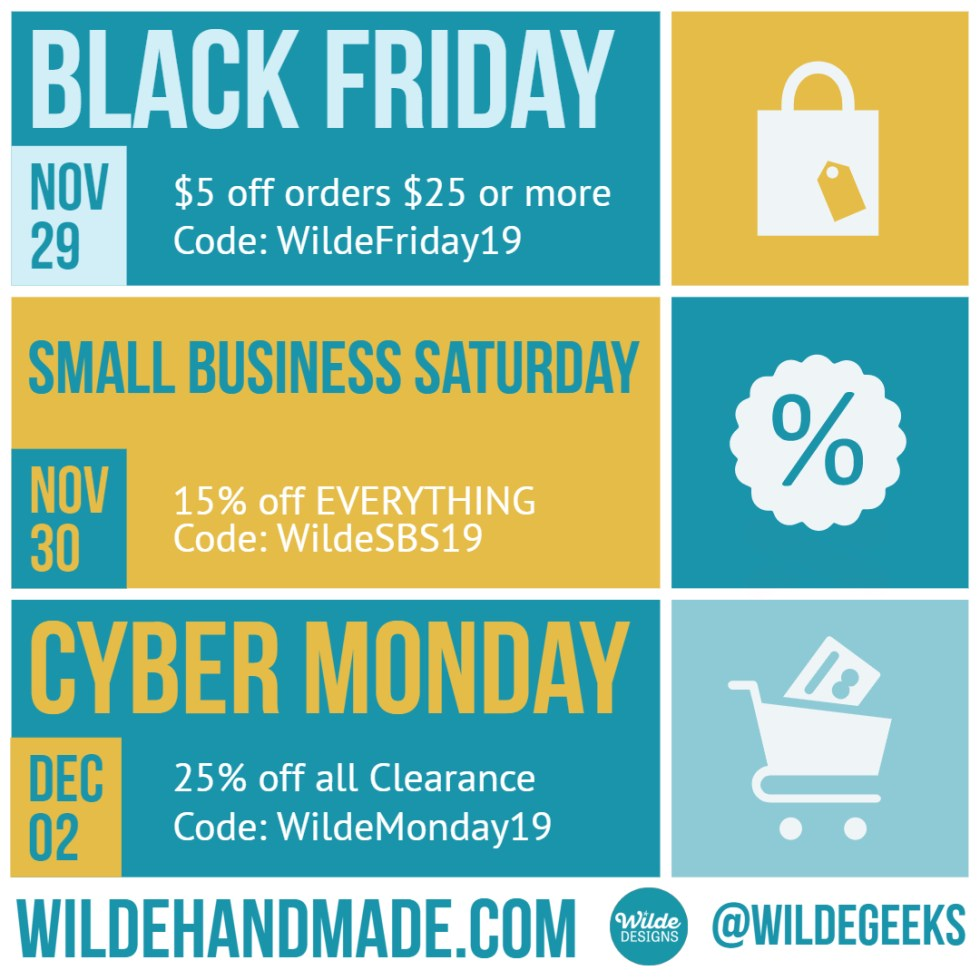 Guide to Wilde Designs Holiday Sales