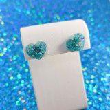 Show Some Love Teal Heart Earrings by Wilde Designs