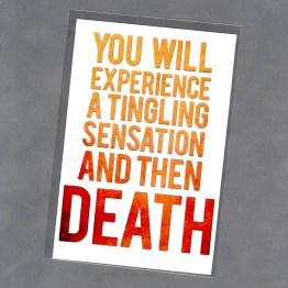 Tingling Sensation Print by Wilde Designs