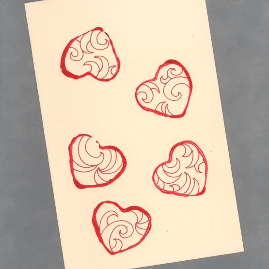 Little Bit of Love Handpainted Heart Cards by Wilde Designs