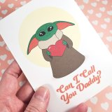 Yodaling Is the Way Valentine's Cards by Wilde Designs