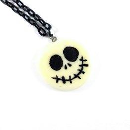 Jack Skellington Inspired Glow in the Dark Necklace by Wilde Designs