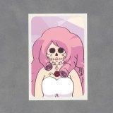 Sugar Skull Rose Quartz Sticker by Wilde Designs