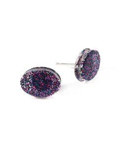Galaxy Oval Glittery Resin Earrings by Wilde Designs