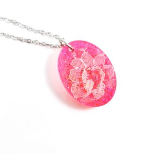Traditional Neon Lace Necklace by Wilde Designs