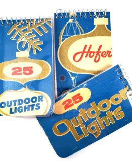 Vintage Christmas Light Memo Pads by Wilde Designs