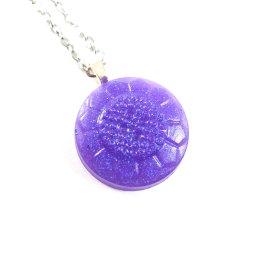 Glittery Purple Button Necklace by Wilde Designs