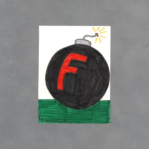 F Bomb Art Card by Wilde Designs