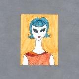 Alien Woman Art Card by Wilde Designs