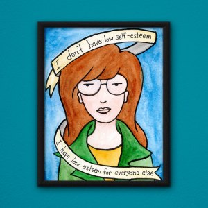 Daria poster by Wilde Designs