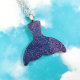 Galaxy Mermaid Tail Necklace by Wilde Designs