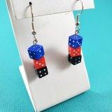 Polyamorous Pride Gamer Gear Earrings by Wilde Designs