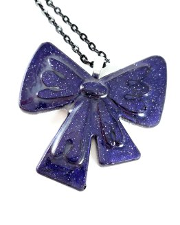 Galactic Gift Bow Necklace by Wilde Designs