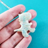 Ice Age Glittery T-Rex Necklace by Wilde Designs