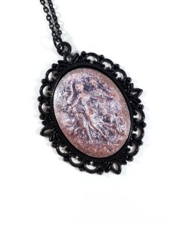Three Graces Cameo Necklace in Soft Pink by Wilde Designs
