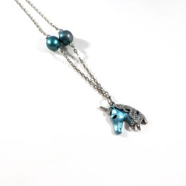 Teal Unicorn Necklaces by Wilde Designs