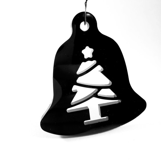 Black Bell Christmas Tree Ornament by Wilde Designs