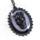 Sugar Skull Cameo Necklaces (multiple colors) by Wilde Designs