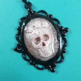 Sugar Skull Cameo Necklace by Wilde Designs