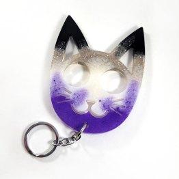 Custom Kitty Cat Safety Keychain