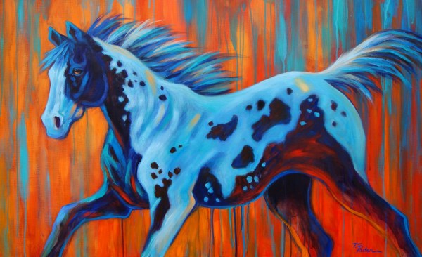 Colorful Abstract Horse Paintings
