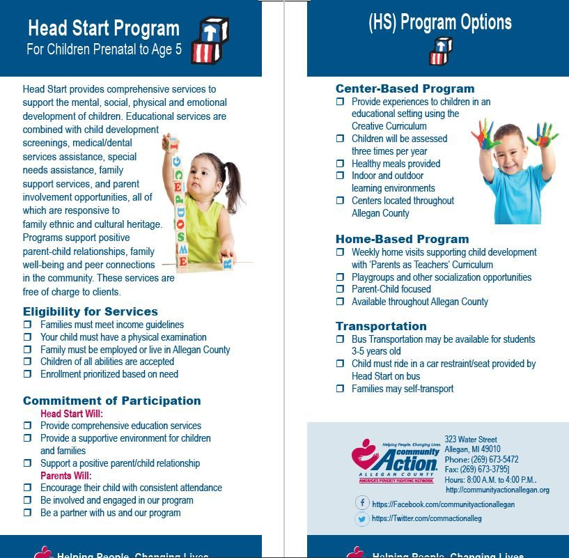 Head Start Program Brochure Insert