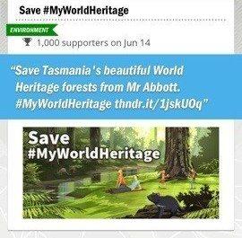 Join the online rally for saving Tasmania World Heritage status