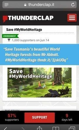 Join the online rally for saving Tasmania World Heritage status