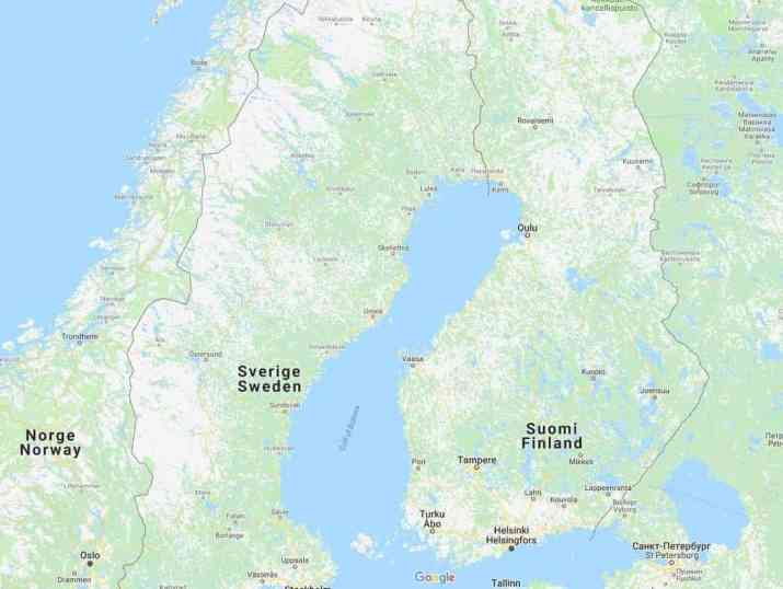 Border between FInland and Russia